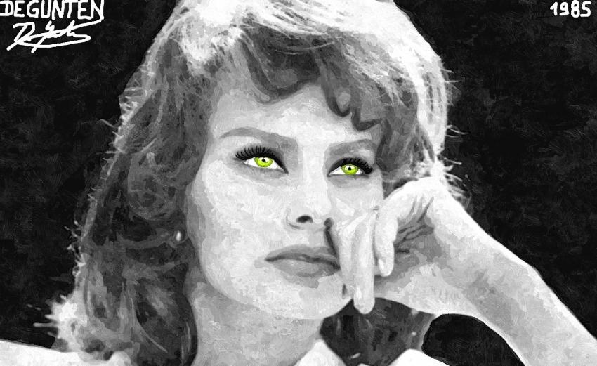 Sophia Loren por JIM